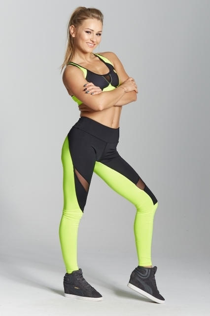 Gym Glamour Legíny Green Fluo, L - 3