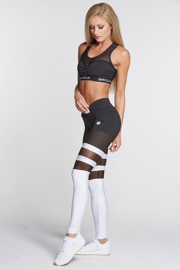 Legíny Gym Glamour Mesh And White Socks - 3