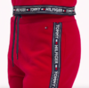 Tommy Hilfiger Cotton Terry Sweatpants Červené, XS - 3/4