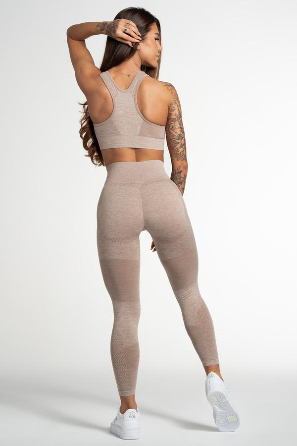 Gym Glamour Legíny Bezešvé Fusion Beige, M - 3
