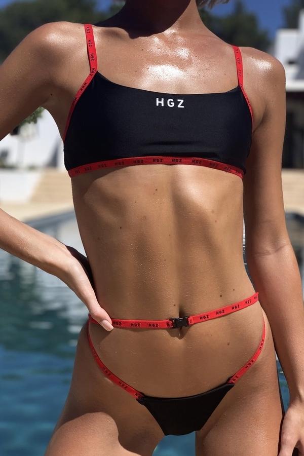 Hugz Plavky Ibiza Sport Bikini Černé, S - 3