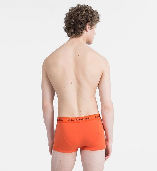 Calvin Klein 3Pack Boxerky Orange, Blue, Khaki LR - 3