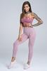 Gym Glamour Legíny Bezešvé Pink Melange, S - 3/5