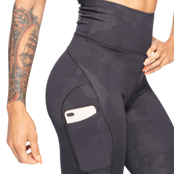 Better Bodies Legíny High Waist Black Camo, XS - 3