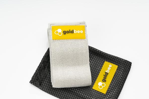 GoldBee Textilní Odporová Guma - Světle Šedá, L - 3