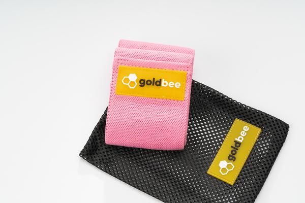 GoldBee Textilní Odporová Guma - Růžová, S - 3