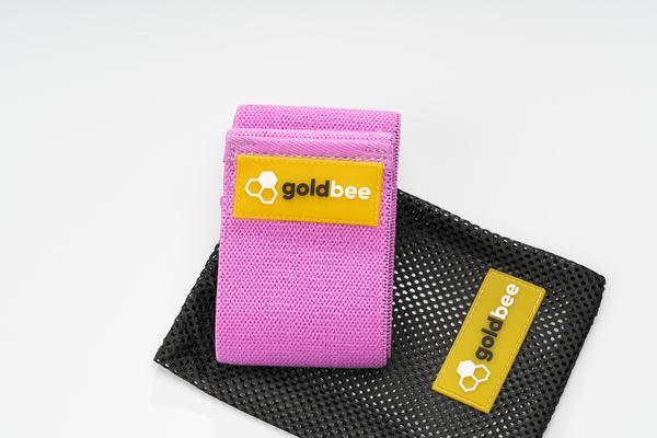 GoldBee Textilní Odporová Guma - Fialová, M - 3