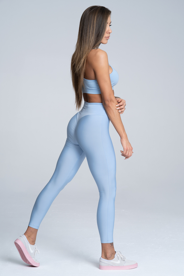 Gym Glamour Legíny High Waist Dream Blue, XS - 3