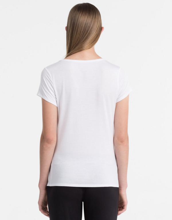 Calvin Klein Tričko Luxe White - 3