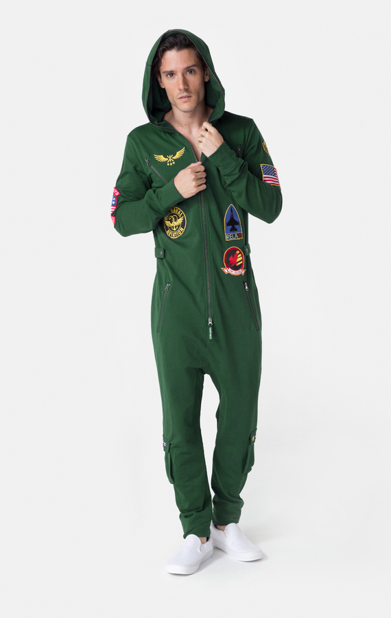 OnePiece Aviator Onesie Jungle Green, XL - 3