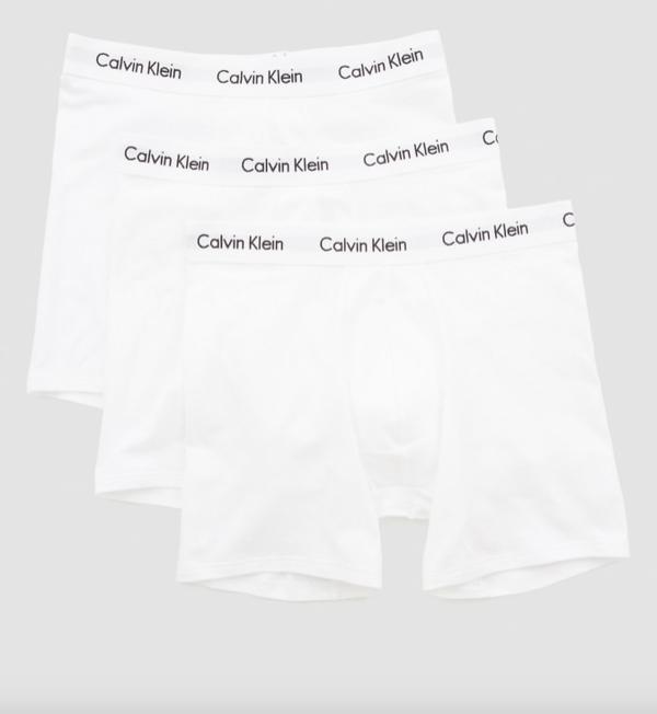 Calvin Klein 3Pack Boxerky Dlouhé Bílé, L - 3