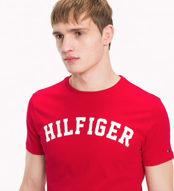 Tommy Hilfiger Pánské Tričko Iconic Red - 3