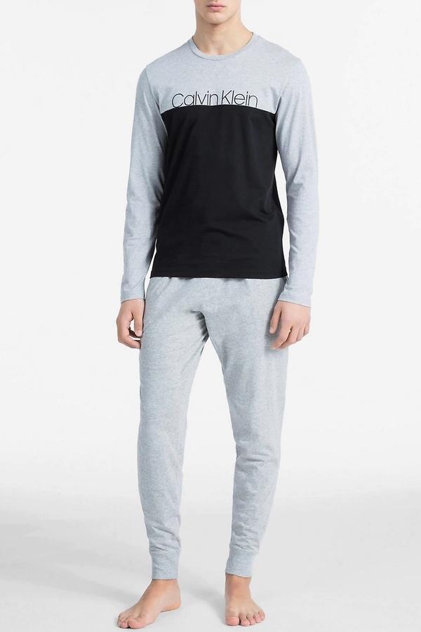 Calvin Klein Pánské Tričko Šedo-Černé - 3