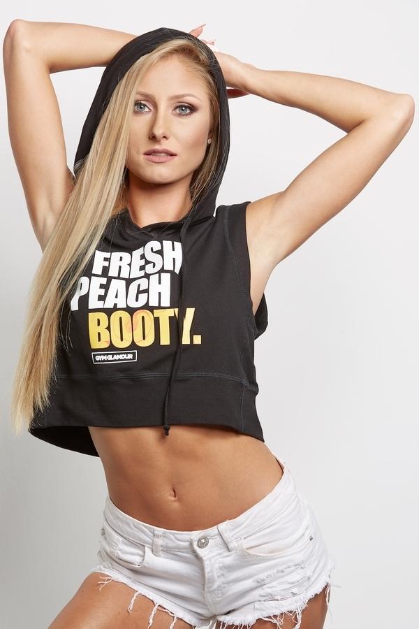 "Gym Glamour Mikina "" Fresh Peach Booty"" Černá, XS - 4"