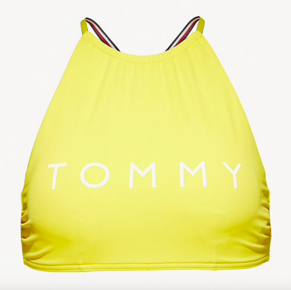 Tommy Hilfiger Plavky Logo Cropped Žluté Vrchní Díl, S - 4