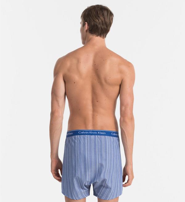 Calvin Klein 2Pack Trenky Modré Se Vzory, S - 4