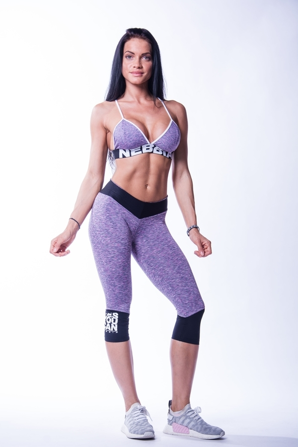 Nebbia 607 High Waist 3/4 Legíny Purple - 4