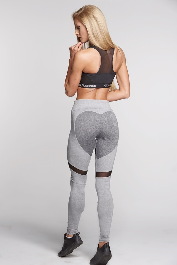 Legíny Gym Glamour Mixed Grey Heart, S - 4