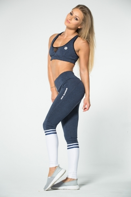 Gym Glamour Legíny Blue Melange & Socks - 4
