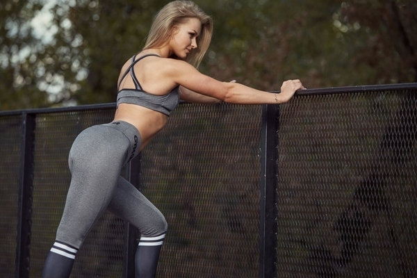 Gym Glamour Legíny Grey & Black Socks - 4