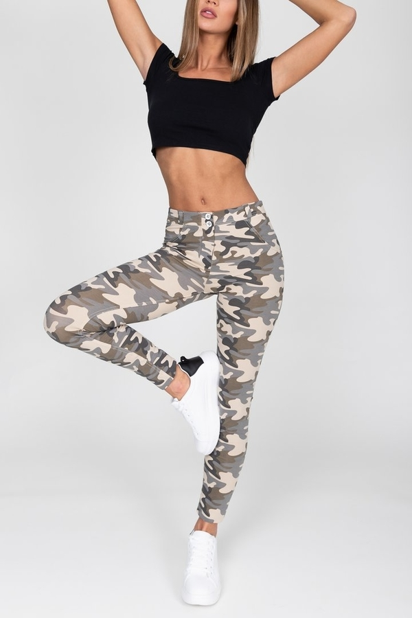 Hugz Camo Light Mid Waist Jegging, M - 4