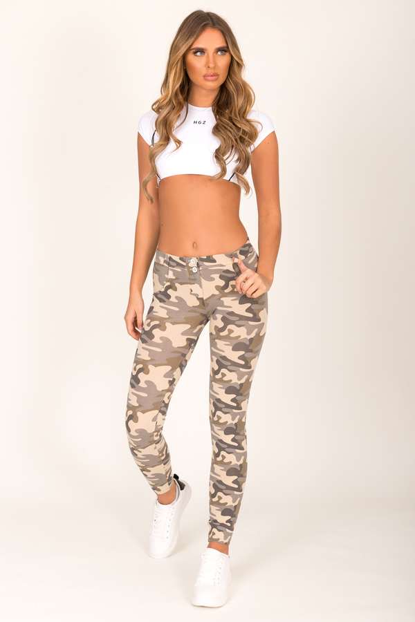 Hugz Camo Light Low Waist Jegging, L - 4