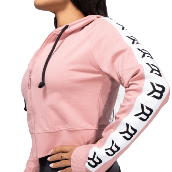 Better Bodies Crop Mikina Vesey Heather Pink, L - 4