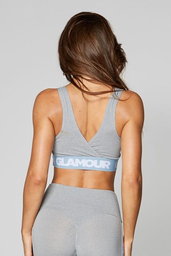 Gym Glamour Podprsenka Grey Basic - 4