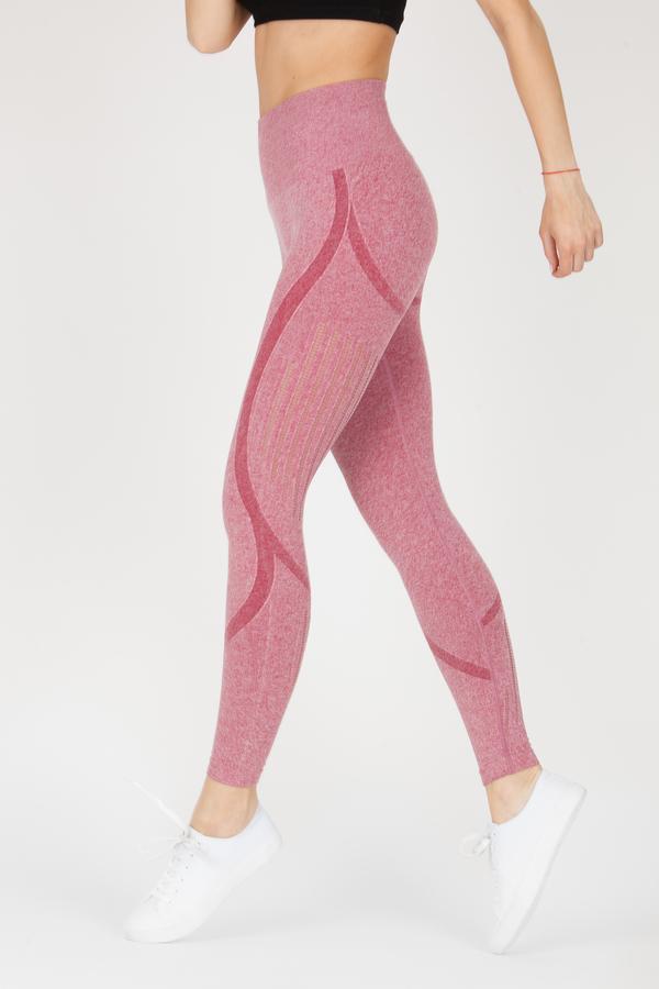 Naine 4.0. Bezešvé Legíny Stripes - Pink, M - 4