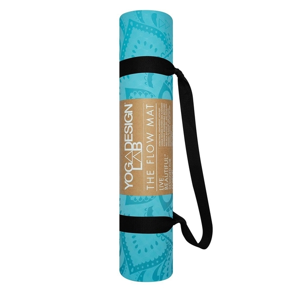 Yoga Design Lab 6.0mm Flow Mat - Pure Mandala Aqua - 4