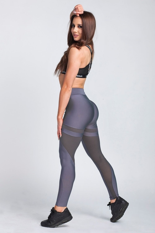 Gym Glamour Legíny Granite Grey Mesh, XS - 4