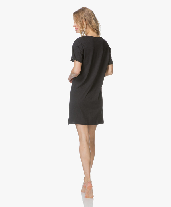 Calvin Klein Dámská Noční Basic Košilka Černá, L - 4