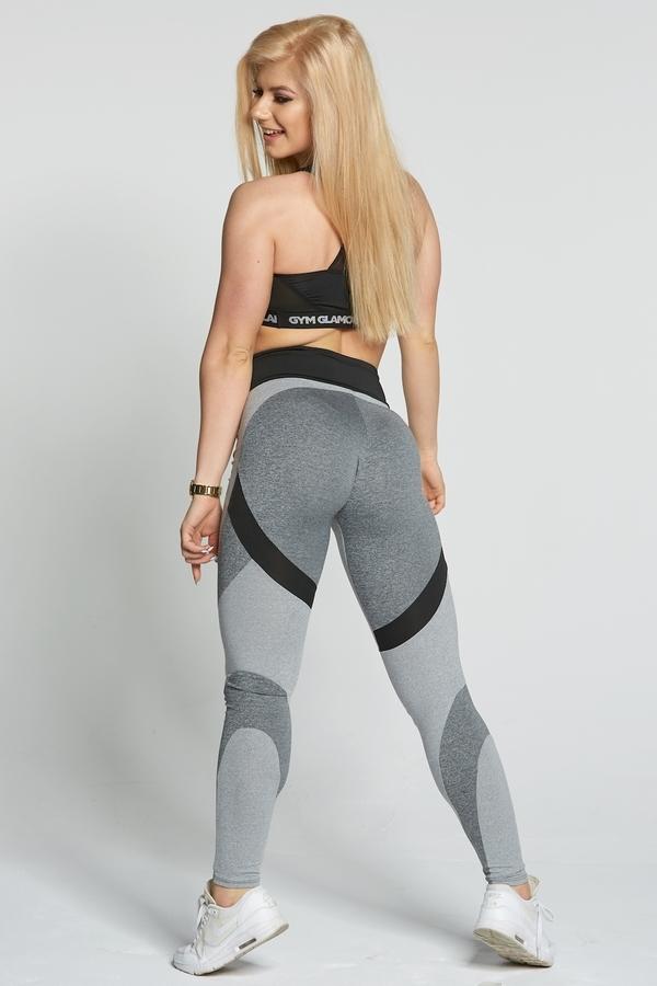 Gym Glamour Legíny Glam Mixed Grey, M - 4