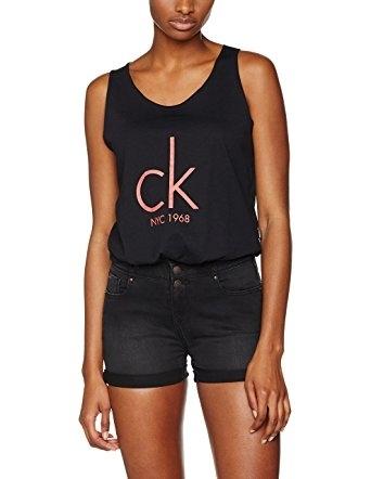 Calvin Klein Tílko Knotted Černé, M - 4