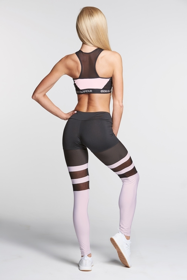 Gym Glamour Legíny Mesh And Pink Socks, XS - 4