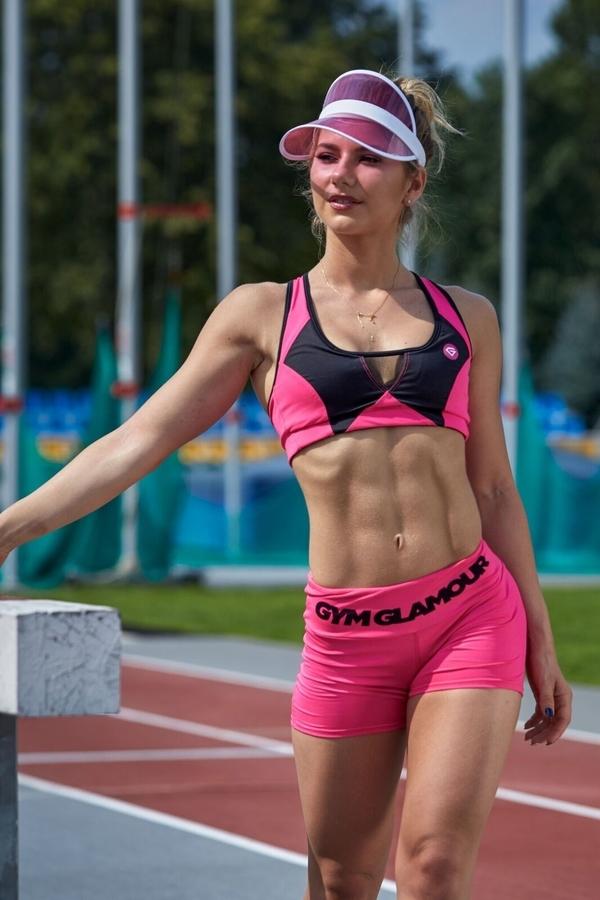 Gym Glamour Kraťásky Pink Fluo, S - 4