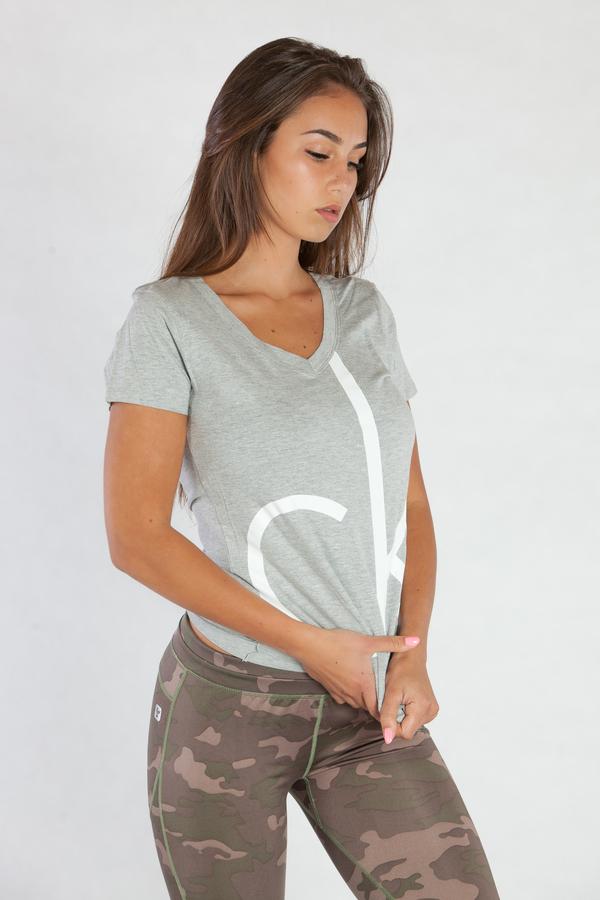 Calvin Klein Dámské Tričko Šedé CK, L - 4