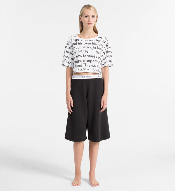 Calvin Klein Crop Top Tričko Women In Love, XS - 4