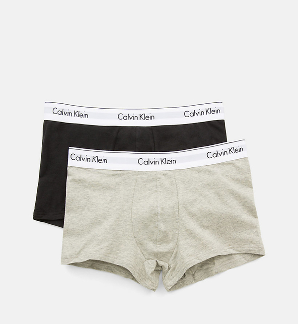 Calvin Klein 2Pack Boxerky Black And Grey, L - 4