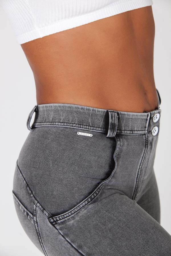 Boost Jeans Mid Waist Grey, M - 4