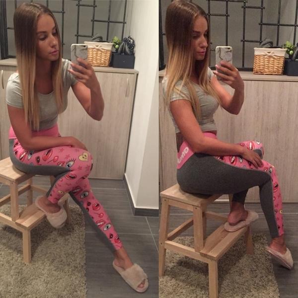 Gym Glamour Legíny Pink Lady, S - 4