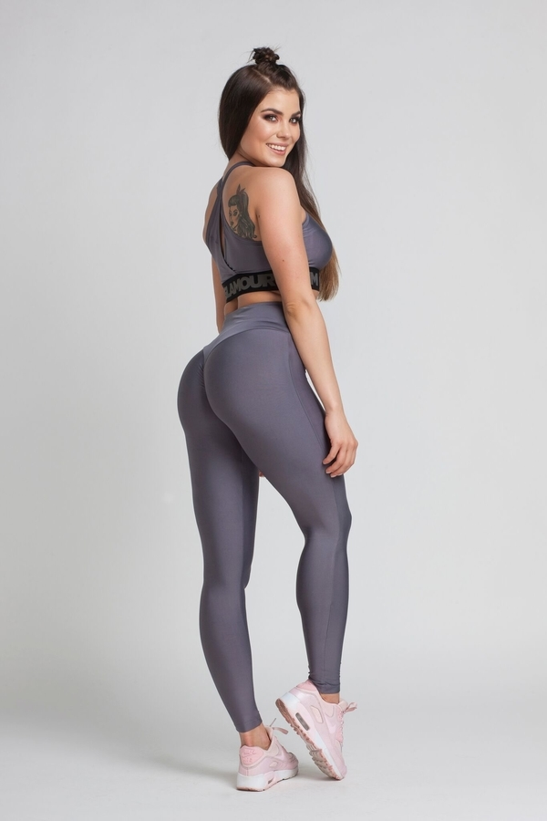 Gym Glamour Legíny High Waist Granite, M - 4