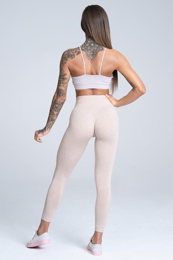 Gym Glamour Legíny Bezešvé Beige, S - 4