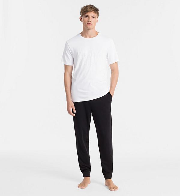 Calvin Klein Pánské Tričko S Nápisem Bílé, M - 4