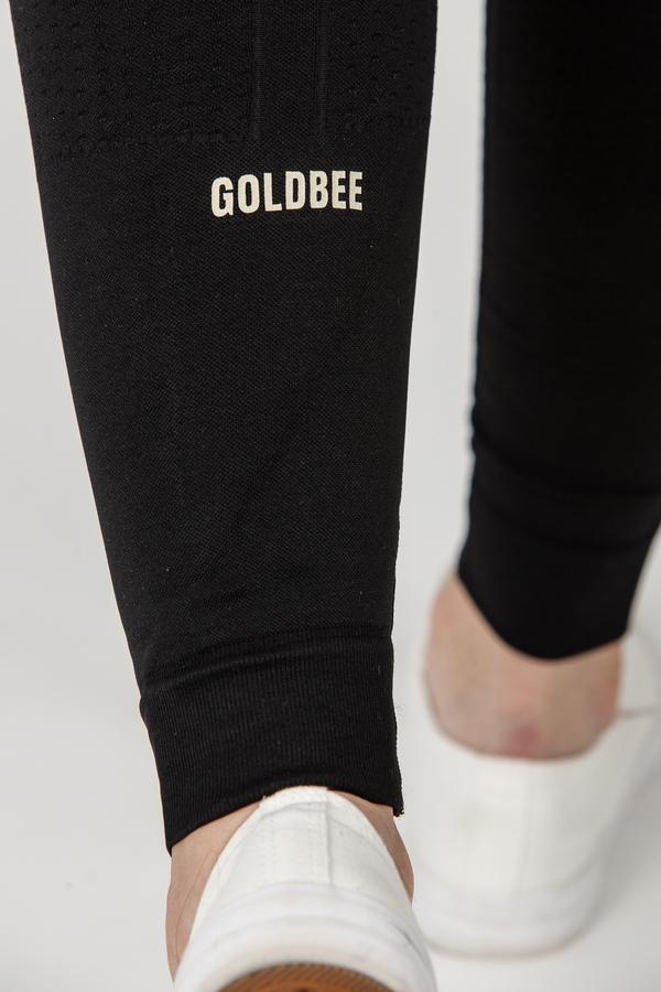 GoldBee Legíny BeSeamless GOLD Black  - 4