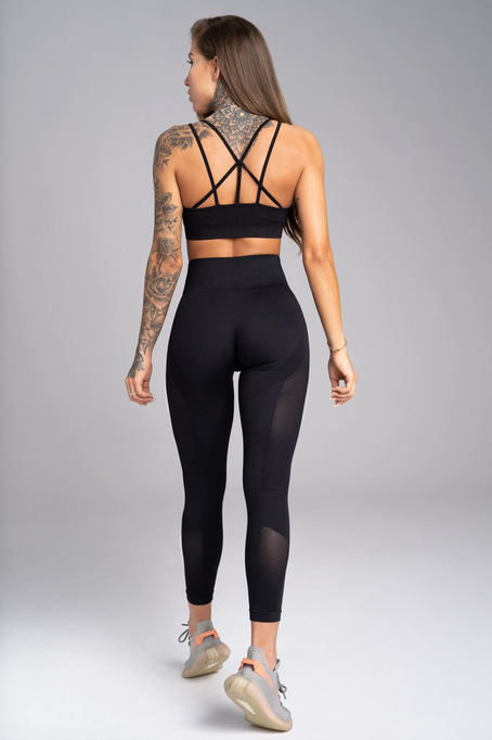 Gym Glamour Legíny Bezešvé Carbon, M - 4
