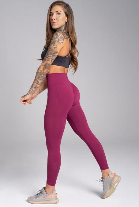Gym Glamour Legíny Bezešvé Jelly Berry, S - 4