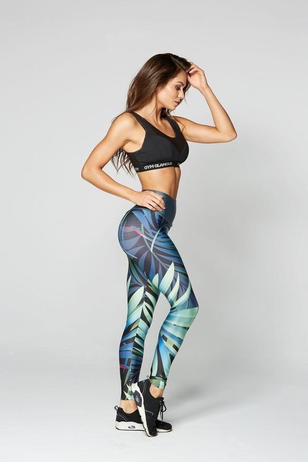 Gym Glamour Legíny Crazy Leaf, S - 4
