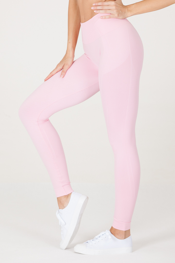 GoldBee Legíny BeSeamless Candy Pink, S - 4