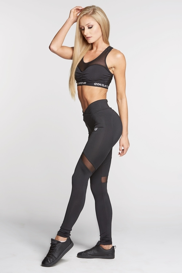 Gym Glamour Legíny Full Black Heart, L - 4
